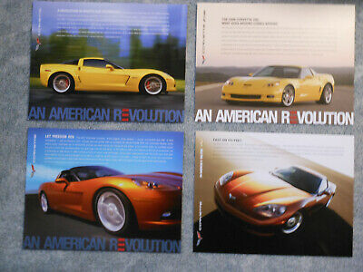 $8.25 • Buy 2006-2008 Corvette Z06 Coupe Convertible Z06 Information Facts 4 Different Cards