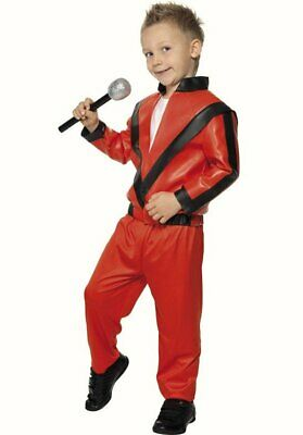 Boys Michael Jackson Fancy Dress Costume Outfit Childs Jacket Trousers Thriller • 14.99£