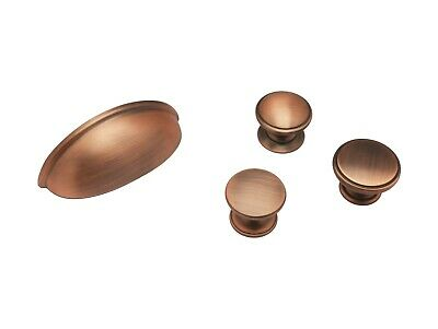 Copper Knob Cup Kitchen Cabinet Door Handle Matte Drawer Cupboard Bedroom  • 1.50£