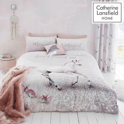 £17.95 • Buy Catherine Lansfield Enchanted Unicorn Duvet Covers Pink Quilt Cover Bedding Sets