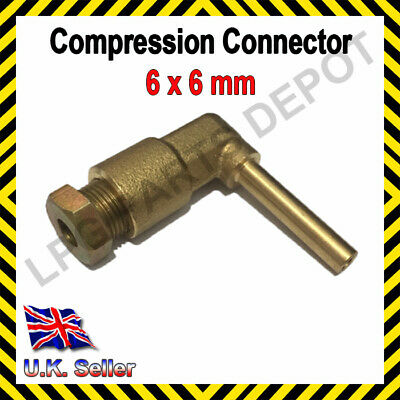 £3.65 • Buy 6x6mm L-piece Compression Connector Copper Pipe Joint Coupling Gas Water Lpg