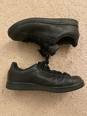 $ CDN39.13 • Buy Adidas Stan Smith Black Leather Sz 9.5 Men's Shoes
