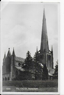 Lovely Vintage Postcard,st Mary's Church,snettisham,hunstaton,norfolk,rp,1950 • 2.99£