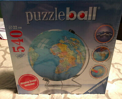 $13.99 • Buy RAVENSBURGER - 540 PC. PUZZLE BALL - EARTH / WORLD GLOBE W/ DISPLAY STAND - NEW