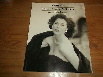 Ava Gardner Collection. 1990 Sotheby's Auction Catalogue. Furniture & Jewellery. • 80£
