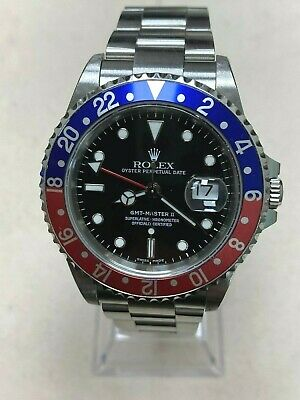 $ CDN14677.77 • Buy Rolex GMT Master II 16710 Pepsi Red And Blue Stainless Steel