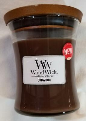 $19.97 • Buy Woodwick Candle OUDWOOD By Yankee Medium Hourglass Jar 9.7 Oz Brown Wax