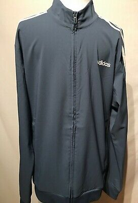 $ CDN29.95 • Buy Adidas Mens Track Top Jacket Blue White Stripes Zip Long Sleeves Size Medium NEW