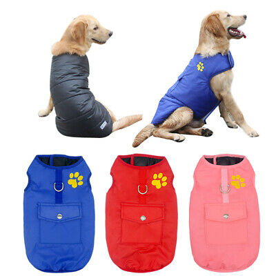 £6.99 • Buy Pets Clothes For Large Dogs Small Medium Dog Coat Waterproof Jacket Boxer L-6XL