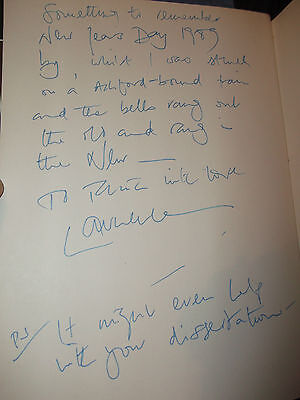 Book Hollywood 1940's Signed By Laurence Olivier 1989 New Years Day Inscription • 195£