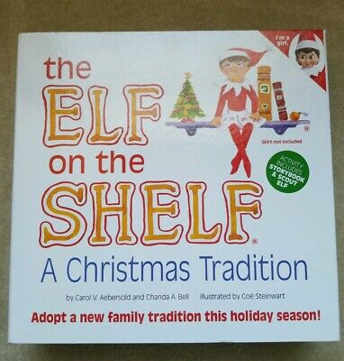 AU39.53 • Buy NEW Elf On The Shelf A Christmas Tradition GIRL Storybook & Scout ELF