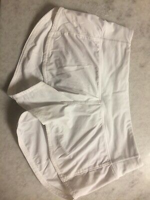 $27 • Buy Lululemon White Size 2 Womens Running Speed Shorts