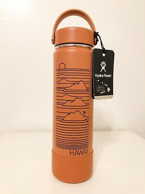 $72 • Buy *LAST ONE* HAWAII 24 Oz Hydro Flask Red Dirt Wide Mouth Limited Edition RARE NWT