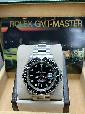 $ CDN12811.47 • Buy Rolex GMT Master 16700 Black Dial Stainless Steel Watch Box Booklet
