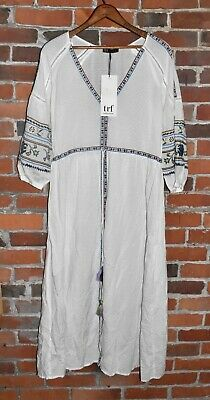 $23.20 • Buy NWT! ZARA TRF Collection White Hippie Chic Tassel Dress Size S AS IS!