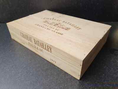 £24.95 • Buy Wine Box With Lid  -flat Half Size Genuine French Wooden Wine Crate Storage