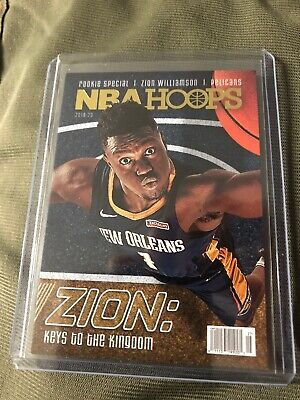$25 • Buy Zion Williamson 'Keys To The Kingdom' Rookie Special 2019-20 Panini Hoops - SP