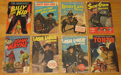 $9 • Buy Golden Age WESTERN READER LOT 11 Books BILLY THE KID ROCKY LANE JOHN WAYNE LASH+
