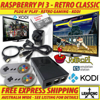 AU124.95 • Buy RetroPie Game Console | RetroPi Raspberry Pi 3