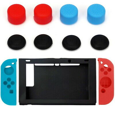 AU7.99 • Buy Nintendo Switch Anti-Slip Silicone Protective Skin Case Cover With Thumb Grips