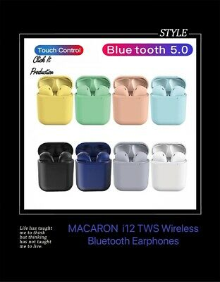 AU17.50 • Buy I12 TWS WIRELESS AIRPODS BLUETOOTH 5.0 EARPHONES TOUCH CONTROL EARBUDS