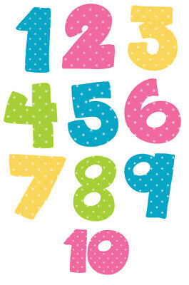 Cute Number Wall Stickers - 5 Sizes Available • 5.99£