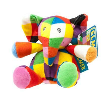 Elmer The Patchwork Elephant Soft Toy Rattle *BRAND NEW* • 9.99£