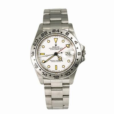 $ CDN14692.62 • Buy Rolex Explorer II 16550 Vintage Mens Automatic Watch White Dial Patina Index 40m