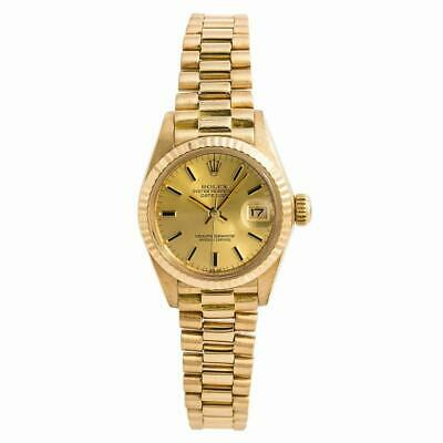 $ CDN7180.04 • Buy Rolex Datejust 6917 President Womens Automatic Watch Champagne 18K Gold 26mm