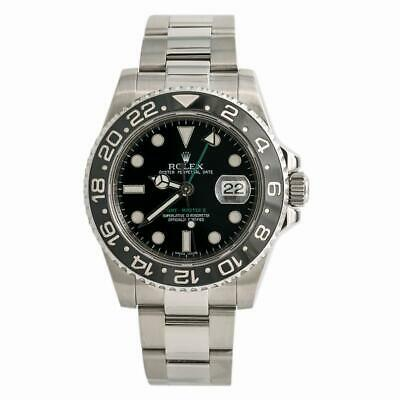 $ CDN14513.60 • Buy Rolex GMT Master II 116710LN Ceramic Men Watch Automatic Stainless Black 40mm