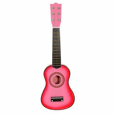 Children's 21  Guitar Kids Musical Instruments Wooden Guitar Gifts Pink Toy • 11.39£