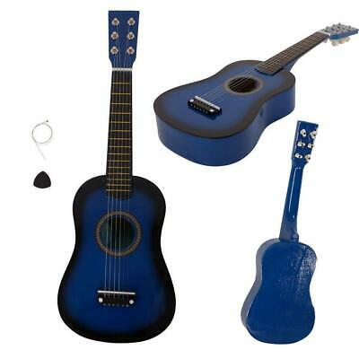 Children's 23  Acoustic Guitar Kids Musical Instruments Wooden Guitar Toy Blue • 11.45£