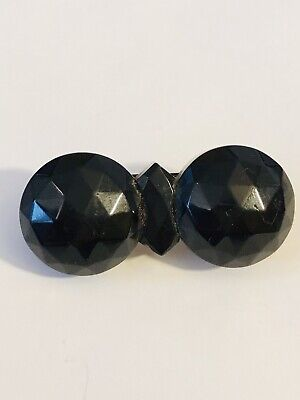 £49 • Buy  Beautiful Victorian Mourning Whitby Jet Brooch   ~ Antique Jewellery