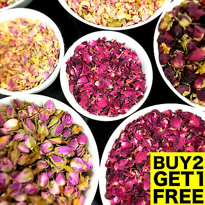 £3.99 • Buy Rose Buds, Dried Edible Red Rose Petals, Flowers Craft Soap Candle Wedding Cake