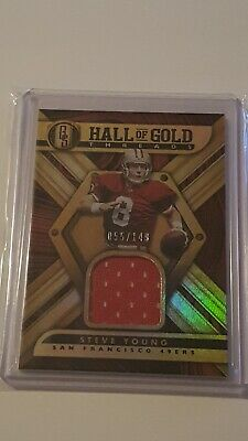 $12 • Buy Steve Young Jersey Card Panini Gold Standard Hall Of Gold Threads 2019 #/149