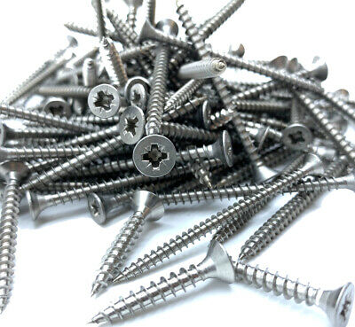 £4.59 • Buy 200g MIXED IN THE PACK ASSORTED STAINLESS STEEL POZI CSK CHIPBOARD WOOD SCREWS