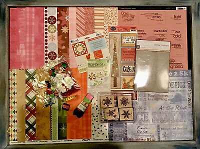 $12.99 • Buy HUGE Christmas Themed Scrapbook Card Paper Crafting LOT Supplies Kit STAMPIN UP