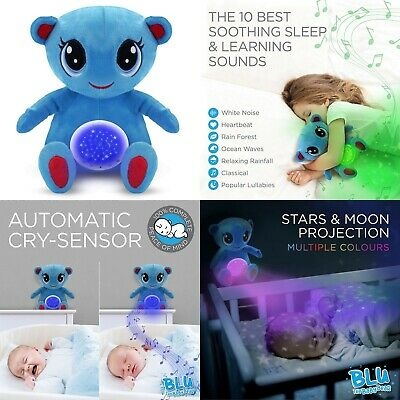 Baby Sleep Aid Toy Teddy Star Projector Night Light Musical White Noise Machine • 14.95£
