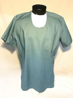 $17.95 • Buy New Men's L Blue Us Military Surgical Operating Scrub Shirt Top Type B Hospital