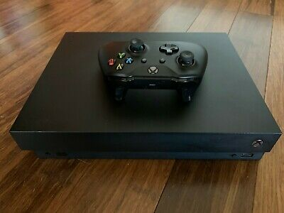 $200 • Buy Microsoft Xbox One X 1TB Black W/stand And 2 Games