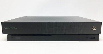 $205.50 • Buy Microsoft Xbox One X - 1TB Project Scorpio Edition Black Console + Cables - VG