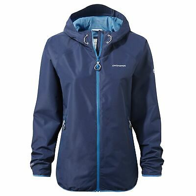 Craghoppers Womens C65 Lite Fully Waterproof Jacket Hooded Coat • 39.99£