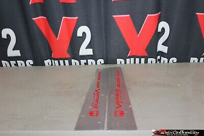 $100 • Buy 03 04 05 06 08 09 10 Dodge Viper Door Sill Panels Protection Plates #06384