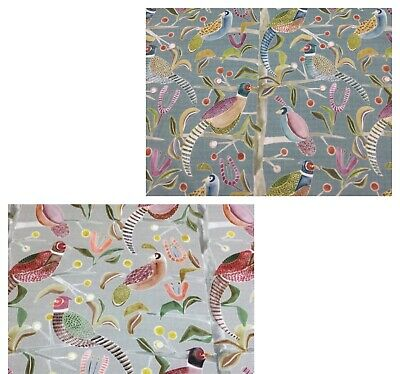 New VOYAGE-LOSSIE Birds Digital Print Cotton Fabric,Upholstery/Curtains/Cushions • 17.95£