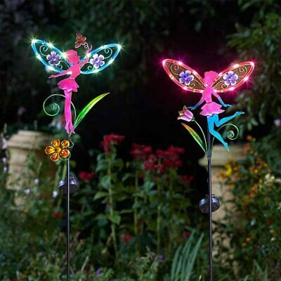 LED Solar Powered Fairy Stake Lights Garden Decorative Wings Figurine Statue  • 13.49£