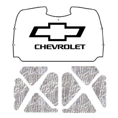 $312.99 • Buy Hood Insulation Pad Heat Shield For 03-06 Chevy Truck Under Cover W/G-047 Bowtie