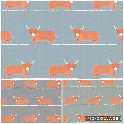 New VOYAGE-DOUGAL Cow Digital Print Cotton Fabric,Upholstery/Curtains/Cushions • 17.95£