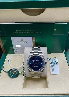 $ CDN8410.95 • Buy BRAND NEW Rolex 114300 Oyster Perpetual Blue Dial Stainless Steel Box Papers