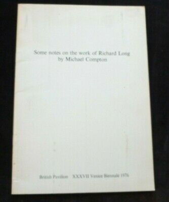 £19.99 • Buy RICHARD LONG Some Notes On The Work Of... Venice 1976 ART EXHIBITION CATALOGUE