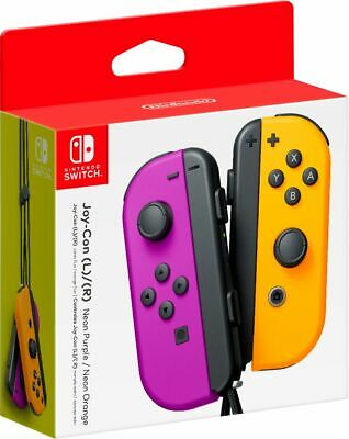 $79.99 • Buy Joy-Con (L/R) Wireless Controllers For Nintendo Switch - Neon Purple/Neon Orange
